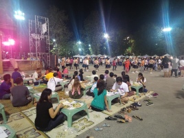 A dancing/food festival we came across in the middle of town one evening!