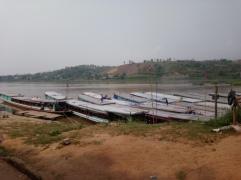 Slow Boat port from Huay Xai