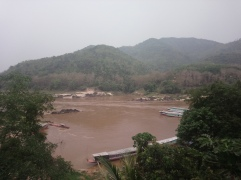 View from Pakbeng restaurant
