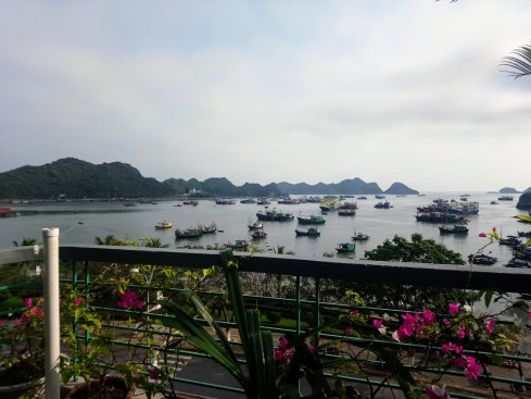 View from Mona Restaurant in Cat Ba