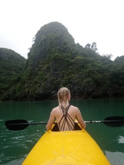 Kayaking through caves to get to beautiful secluded lagunes