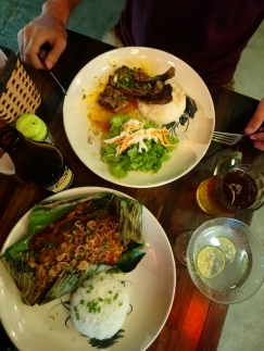 My red snapper and Elliot's pork ribs