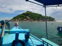 Our snorkel tour boat