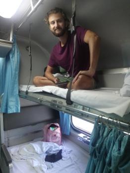 Elliot on top bunk