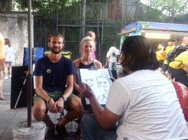 Our fabulous caricaturist