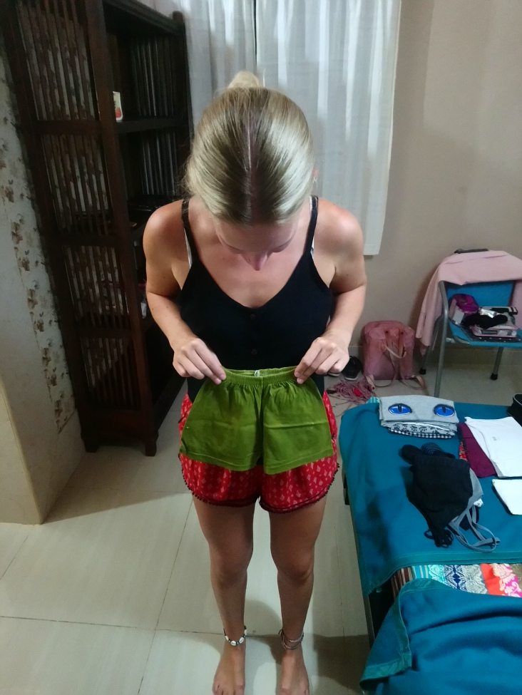 Some tiny shorts we obtained in our laundry...