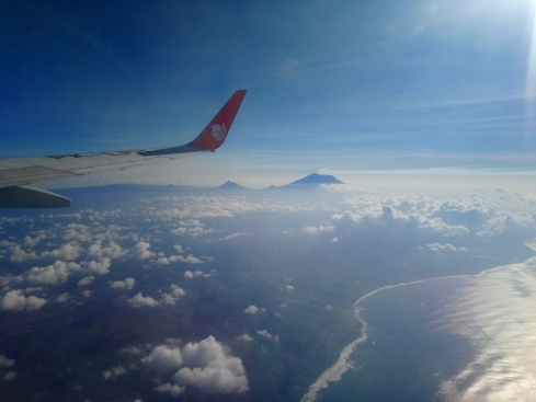 Bali volcano in the distance