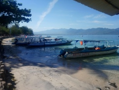 The public boat to Bangsal, Lombok